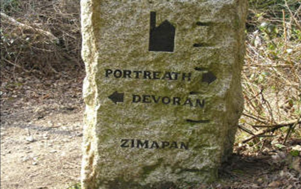 Waymarker at Zimapan